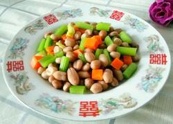 凉拌五香花生米