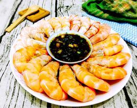 白灼双色大海虾