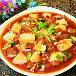 红烧红白豆腐