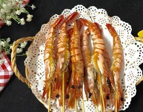 烤箱盐焗九节虾