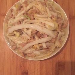白菜梆子炒肉丝