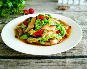 香菇炒白菜叶