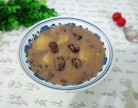 红豆红枣红薯小米粥