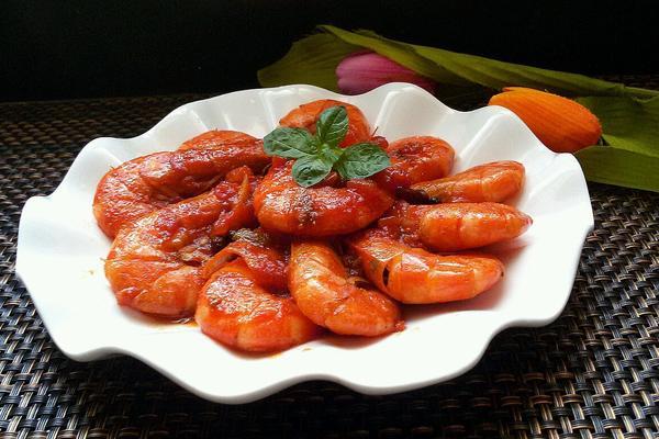 西红柿烧河虾