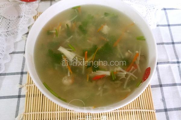 金针菇海蛎汤