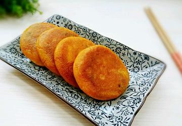 豆沙南瓜饼
