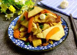 豆腐干胡萝卜烧肉