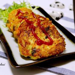 鲜虾豆腐饼