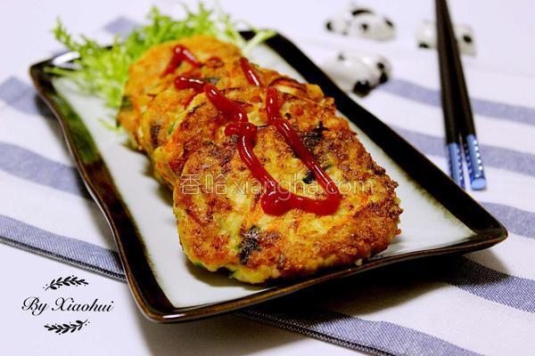 鲜虾豆腐饼的做法