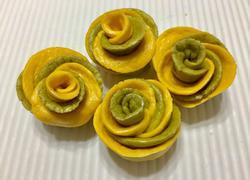 双色玫瑰花卷