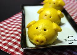 黄金小猪豆沙包