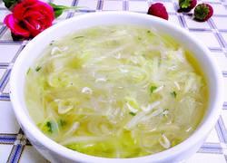 虾米白菜粉丝素汤