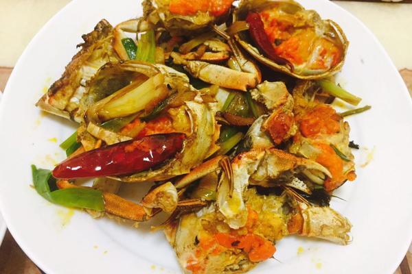 姜葱炒大闸蟹