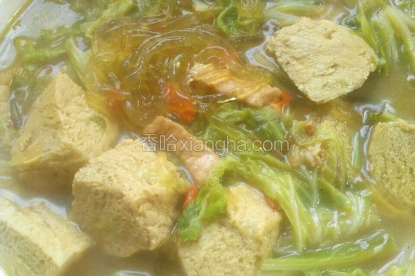 冻豆腐炖白菜粉