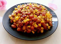 玉米花生炒香肠
