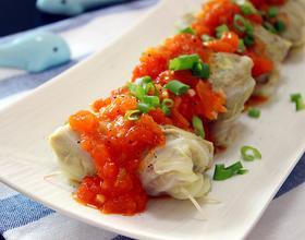 茄汁卷心菜牛肉卷