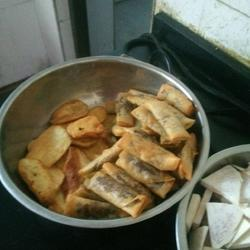 炸番薯豆沙春卷
