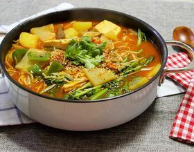 韩国牛肉豆腐锅[图]