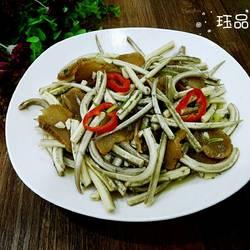 麻根鱼煮萝卜干
