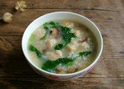香菇肉丸芥菜粥
