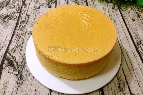 八寸戚风蛋糕(清水版)