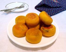南瓜糯米芝麻饼