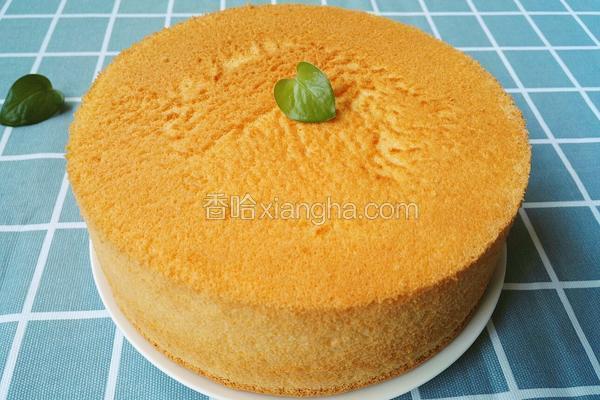 阳光橙味戚风蛋糕~八寸