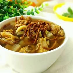 虫草排骨萝卜汤