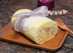 黄桃奶油蛋糕卷