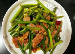 蒜苔炒咸肉