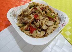 杏鲍菇豆腐干炒肉丝