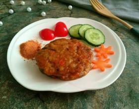 黑胡椒胡萝卜猪肉饼