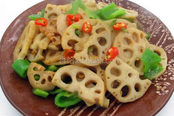 小炒青椒藕片