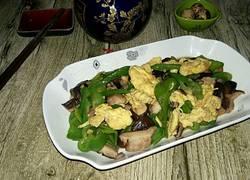 香菇尖椒炒鸡蛋