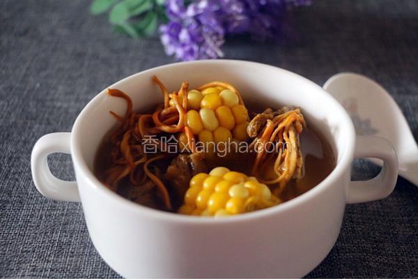 虫草花玉米龙骨汤