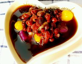 红豆沙芋圆甜品