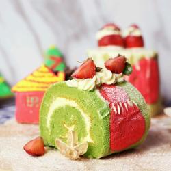 圣诞雪人蛋糕卷