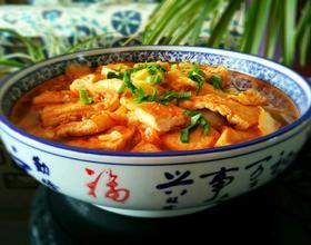 肉末大白菜炖豆腐[图]