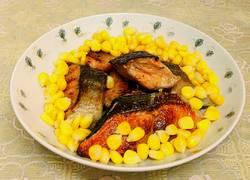 玉米配三文鱼