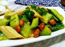 黄瓜拌腐竹花生