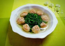 豌豆苗丸子汤