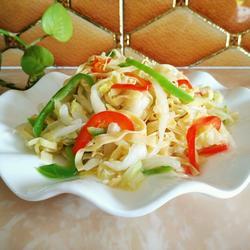 大白菜炒百叶