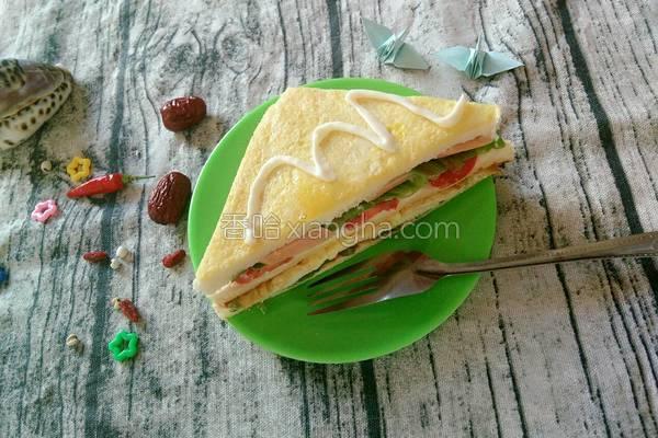 营养三明治的做法