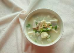 虾米瘦肉芋头豆腐汤