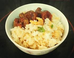 广式腊肠蒸米饭