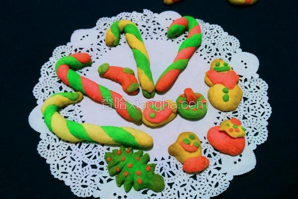 彩色拐棍饼干