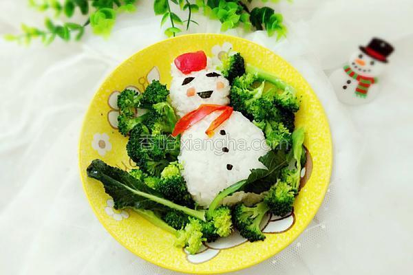 雪人饭团的做法