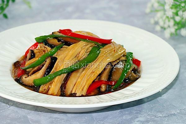 腐竹烧香菇