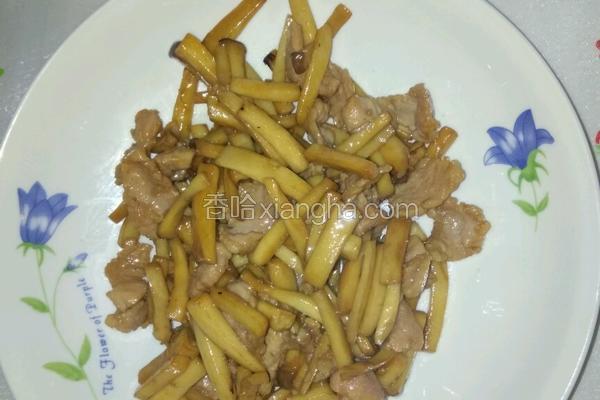 鲍菇炒瘦肉