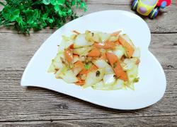 胡萝卜炒白菜白